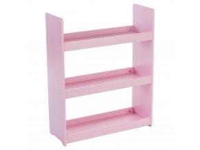 Regál, police, skříň, dětský regál, regál na skladování - 3 úrovně, barva růžová, 63 x 24 x 78 cm