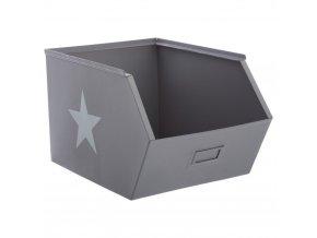 Emako Box, box na hračky, skříňka, krabice na hračky, komoda na hračky, odkládací regál, kontejner na hračky, šedá barva, 32 x 23 x 20 cm