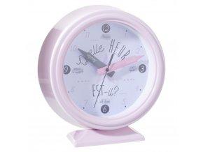Dětské hodiny, růžové hodiny, stolní hodiny - barva růžová