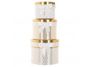 Atmosphera Créateur d'intérieur Box, krabička, krabice, kontejner pro uchovávání, dekorativní krabice, zlatá barva, bílá barva