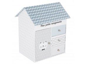 Atmosphera Créateur d'intérieur Box, krabice, krabička, kontejner pro uchovávání, dekorativní krabice, dům, 3 zásuvky
