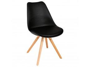 Černá židle, 54 x 48 x 81 cm