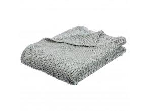 Teplá deka, přikrývka, deka s polyesteru, 150x125 cm - šedá barva