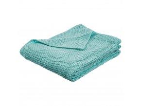 Teplá deka, přikrývka, deka s polyesteru, 150x125 cm - modrá barva