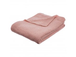 Teplá deka, přikrývka, deka s polyesteru, 150x125 cm - růžová barva