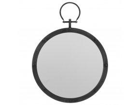 Zrcadlo nástěnné s přívěskem, kovové zrcadlo, kruhové zrcadlo Ø 40 cm