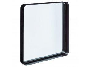 Zrcadlo, černé zrcadlo,  kovové zrcadlo, stojící zrcadlo, kosmetické zrcadlo,  39x38 cm