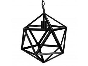 Kovové svítidlo, stropní svítidlo, lampa, RUBIK - barva černá