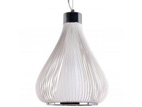 Stropní svítidlo, kovová lampa - barva bílá, Ø 34 cm x 45 cm