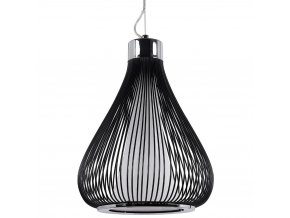 Stropní svítidlo, kovová lampa - barva černá, Ø 34 cm x 45 cm