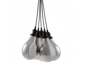 Kovové svítidlo, stropní svítidlo, lampa ATMOSPHERA - 5 žárovek, barva černá