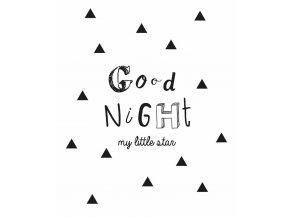 Dětský plakát, dekorativní plakát, nálepka GOOD NIGHT - 30x40 cm