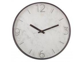 Kulaté hodiny, nástěnné hodiny, moderní hodiny MARBLE, barva šedá, Ø 30 cm
