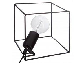 Atmosphera Créateur d'intérieur Dekorativní lampa, stolní lampa, stolní lampička, stojací lampa, kovová lampa, černá lapma SQUARE černá barva