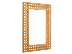 Zrcadlo, nástěnné zrcadlo, bambusové zrcadlo BAMBOU zrcadlo v dřevěném rámu, 70 x 50 cm