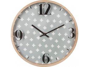 Kulaté hodiny, nástěnné hodiny, moderní hodiny ATOMIC, Ø 33 cm, barva šedá