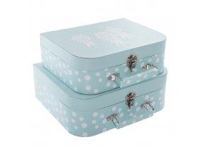 Emako Krabička, krabice, kontejner pro uchovávání, box, dekorativní krabice ATOMIC HOME  2 ks, barva modrá