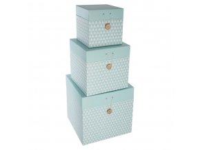 Box, krabička, krabice, kontejner pro uchovávání, dekorativní krabiceATOMIC HOME - 3 ks, barva mentolová