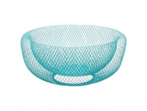 Košík, nádoba, košík pro ovoce, kovový košík, modrý košík, modrá mřížka