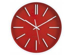Červené nástěnné hodiny, moderní hodiny, velké hodiny, hodiny do obývacího pokoje, kuchyňské hodiny, hodiny do kuchyně, červené hodiny, dekorativní hodiny, ozdobné hodiny