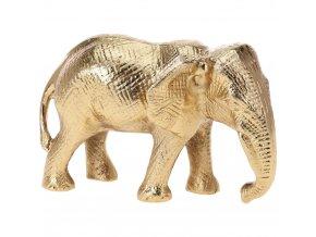 Home Styling Collection Slon pro štěstí, dekorativní figurka, hliník, výška 21 cm, stylová exotická výzdoba