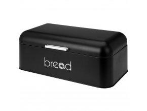 Kovový kontejner na chleba - barva černá