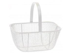 Mini košík na drobné předměty, dekorace - kovový, 13 x 12 x 9 cm