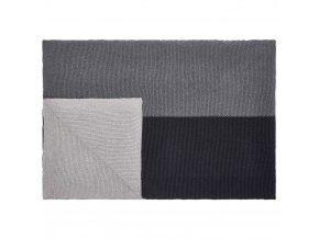 Bavlněná přikrývka, dekorativní pléd, 100 % bavlna - barva antracitová, Marc O'Polo