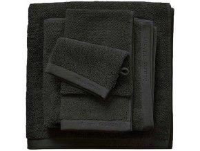 Luxusní froté ručník, koupací ručník, bavlna, černá barva, 30 x 50 cm, 50 x 100 cm, 70  x 140 cm