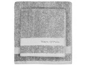 Luxusní froté ručník, koupací ručník, prací rukavice, melanžová bavlna Marc O'Polo, 16 x 22 cm