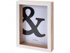 Dřevěný fotorámeček - 14 cm x 19 cm - bílá