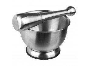 Hmoždíř, kuchyňský hmoždíř, hmoždíř s paličkou, nerezová ocel