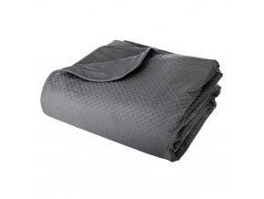 Přikrývka, teplá deka, deka s polyesteru, MANOIR 240 x 260 cm - šedá barva