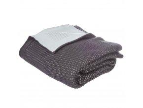 Teplá deka, přikrývka, deka z akrylu SOFIA, 150 x 125 cm - barva tmavě šedá