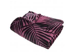 Teplá deka, přikrývka, deka s mikrovlákna, polyester, MOOD 150 x 125 cm - barva růžová