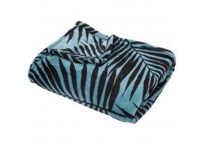 Teplá deka, přikrývka, deka s mikrovlákna, polyester, MOOD 150 x 125 cm - barva modrá