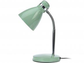 Kovová stolní lampička, stojací, na stůl 34cm - barva mentolová