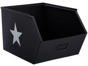 Box, box na hračky, skříňka, krabice na hračky, komoda na hračky, odkládací regál, kontejner na hračky, šedá barva, 32 x 23 x 20 cm
