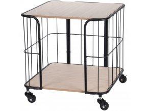Home Styling Collection Stolík, vozík na kolečkách
