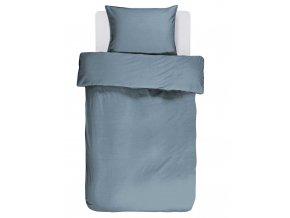 Bavlněné povlečení na postel v modré barvě, obrázkové povlečení, povlečení na jednolůžko, modrá barva, Essenza, 140 x 220 cm - 140x220+60x70
