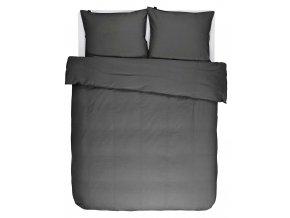 Povlečení na dvojlůžko, bavlněné povlečení na postel, obrázkové povlečení, dekorativní povlak, antracitové barvy, Essenza, 200 x 220 cm -  200x220+2/60x70