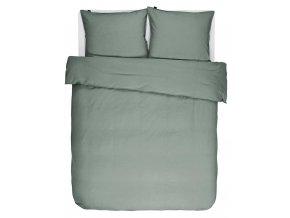 Bavlněné povlečení na postel, obrázkové povlečení,  povlečení na dvojlůžko, pastelová zelená barva, Essenza, 200 x 220 cm -  200x220+2/60x70