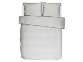 Bavlněné povlečení na postel, obrázkové povlečení,  povlečení na dvojlůžko, světle stříbrná barva, Essenza, 200 x 220 cm -  200x220+2/60x70