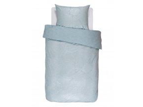 Bavlněné povlečení na postel, obrázkové povlečení, povlečení na jednolůžko, květinový design, světle modrá barva, Essenza, 140 x 220 cm - 140x220+60x70