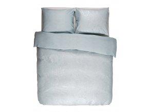 Bavlněné povlečení na postel, obrázkové povlečení, povlečení na jednolůžko, světle modrá barva, květinový design, Essenza, 140 x 220 cm -  200x220+2/60x70