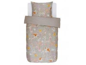 Bavlněné povlečení na postel, saténové povlečení,  obrázkové povlečení, povlečení na jednolůžko, velké květiny, Essenza - 140x220+60x70