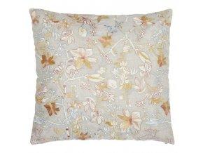 Essenza Dekorativní poduška, polštář s květinami  béžová barva, 45 x 45 cm,