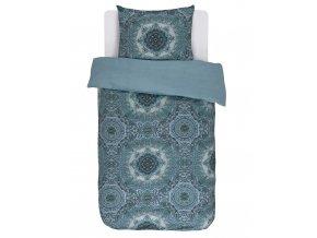 Bavlněné povlečení na postel, obrázkové povlečení, povlečení na jednolůžko, etnický styl, modrá barva, Essenza - 140x220+60x70
