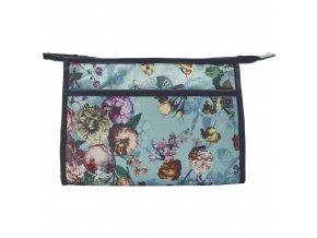 Prostorná kosmetická, taška, cestovní taška na kosmetiku, světle modrá barva,