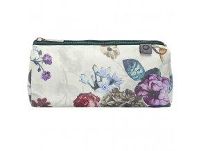 Příruční kosmetická taška s květinovým vzorem, cestovní sáček na kosmetiku, bilá barva,